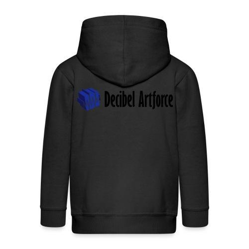 decibelartforce logo 4c vektorisiert - Kinder Premium Kapuzenjacke