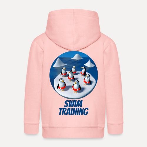 Pinguine beim Schwimmunterricht - Kids' Premium Hooded Jacket