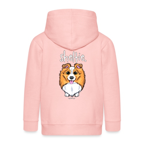Sheltie Dog Cute 5 - Kids' Premium Zip Hoodie