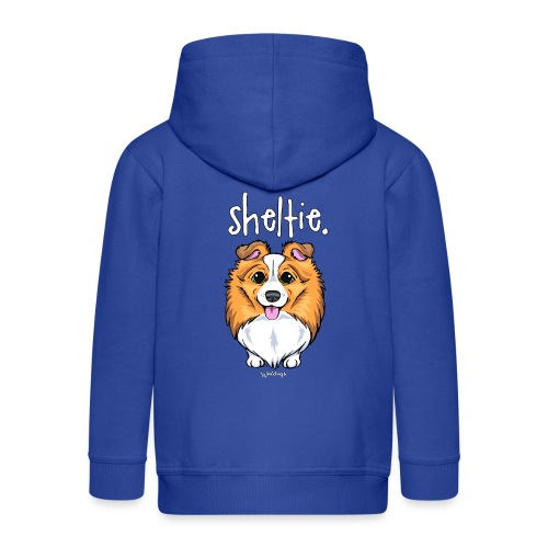 Sheltie Dog Cute 5 - Kids' Premium Zip Hoodie
