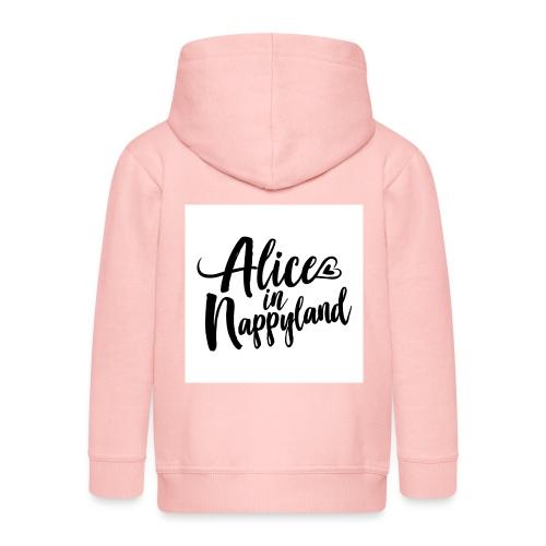 Alice in Nappyland Typography Black 1080 1 - Kids' Premium Zip Hoodie