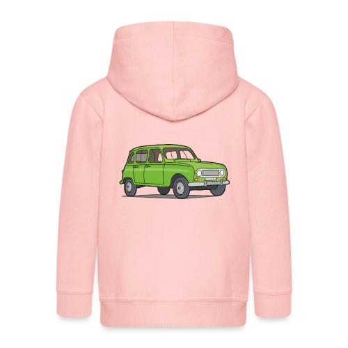Grüner R4 (Auto) - Kinder Premium Kapuzenjacke