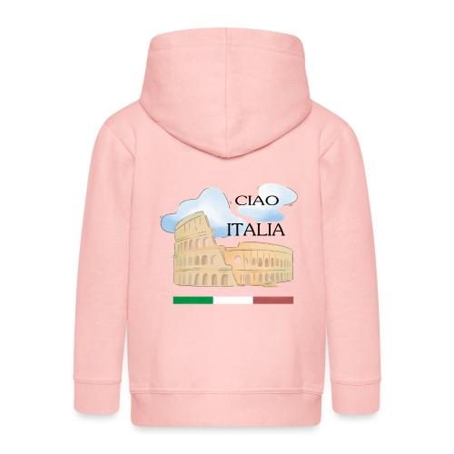 hello italy T-Shirts - Kids' Premium Hooded Jacket