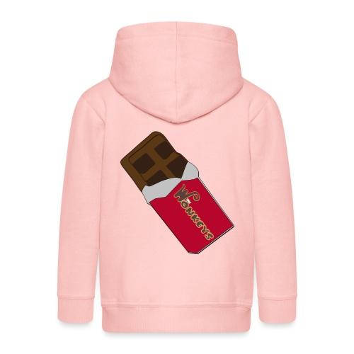 The Wonkeys Chocolate Edition - Felpa con zip Premium per bambini