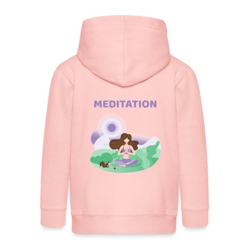 Yoga Meditation - Felpa con zip Premium per bambini