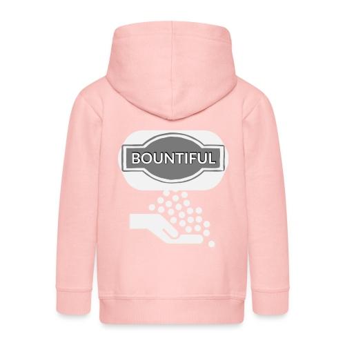 Bontiul gray white - Kids' Premium Zip Hoodie