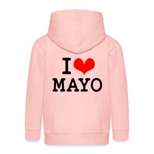 I Love Mayo - Kids' Premium Zip Hoodie