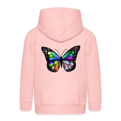 Kolorwy Motyl - Rozpinana bluza dziecięca z kapturem Premium