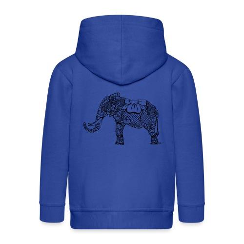 Éléphant oriental - Veste à capuche Premium Enfant