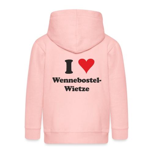 I Love Wennebostel-Wietze - Kinder Premium Kapuzenjacke
