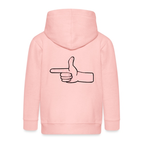 Winky Hand Pointing - Kids' Premium Zip Hoodie