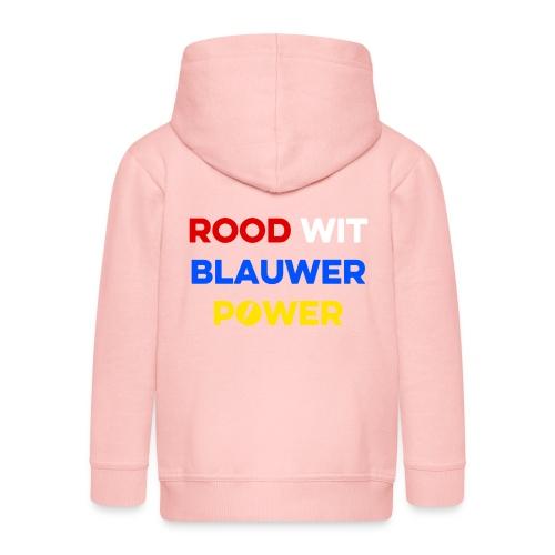 Rood Wit Blauwer Power - Kinderen Premium jas met capuchon