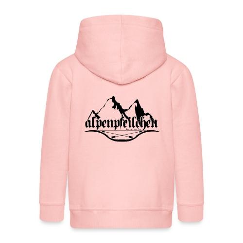 Alpenpfeilchen - Logo - Kinder Premium Kapuzenjacke