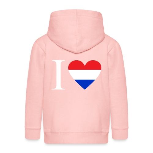 Ik hou van Nederland | Hart met rood wit blauw - Kinderen Premium jas met capuchon