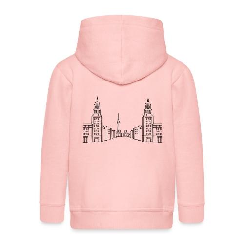 Frankfurter Tor Berlín - Rozpinana bluza dziecięca z kapturem Premium