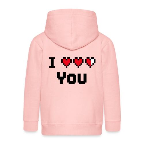 I pixelhearts you - Kinderen Premium jas met capuchon