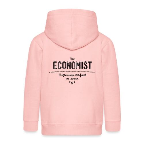 Bester Ökonom - wie ein Superheld - Kinder Premium Kapuzenjacke