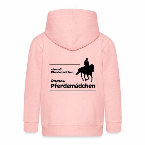 Pferdemädchen Pferdespruch Geschenk Reiten Mädchen - Kinder Premium Kapuzenjacke