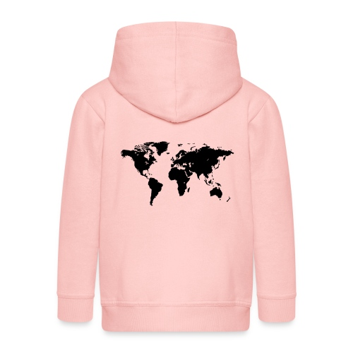 World Map - Kinder Premium Kapuzenjacke