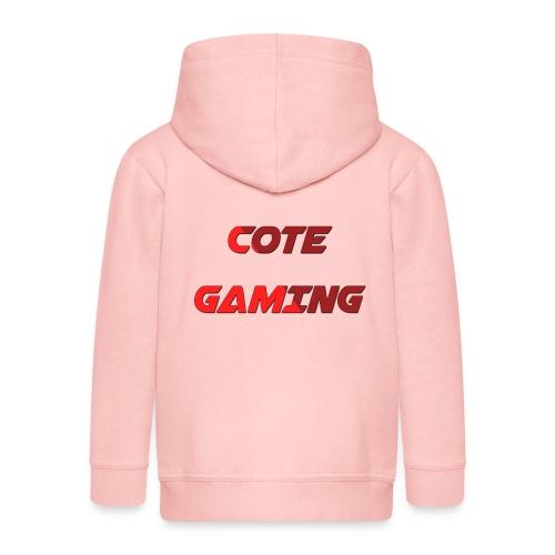 Cote Sweater Rode Letters - Kids' Premium Zip Hoodie