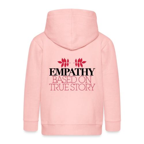 empathy story - Rozpinana bluza dziecięca z kapturem Premium