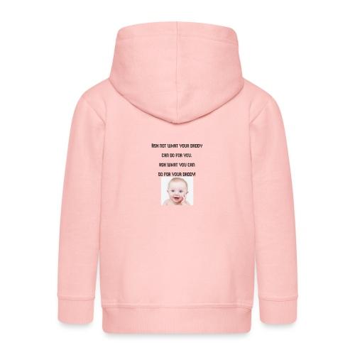 daddy tshirt sort tekst - Kids' Premium Zip Hoodie