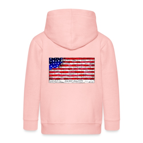 Good Night Human Rights - Kids' Premium Zip Hoodie