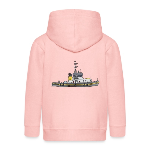 Schlepper Schleppschiff c - Kinder Premium Kapuzenjacke