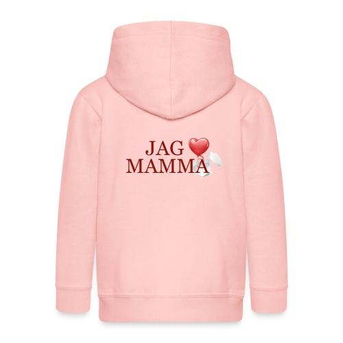 Jag älskar mamma - Premium-Luvjacka barn