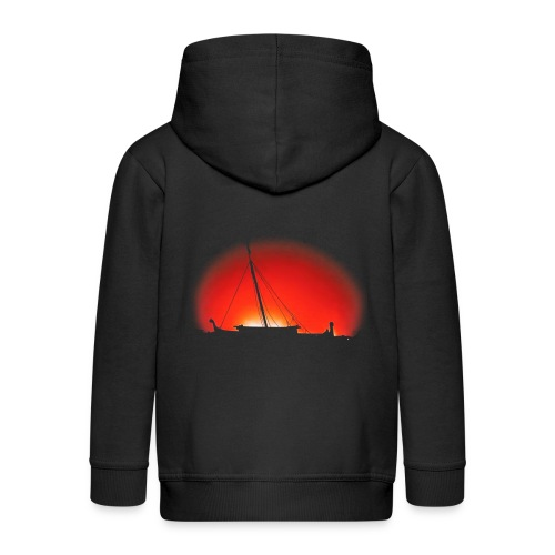 Bear Sunset - Kids' Premium Zip Hoodie