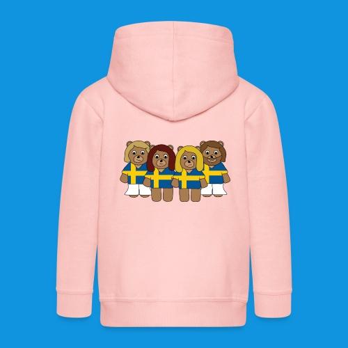Abba Sweden Bears.png - Kids' Premium Zip Hoodie