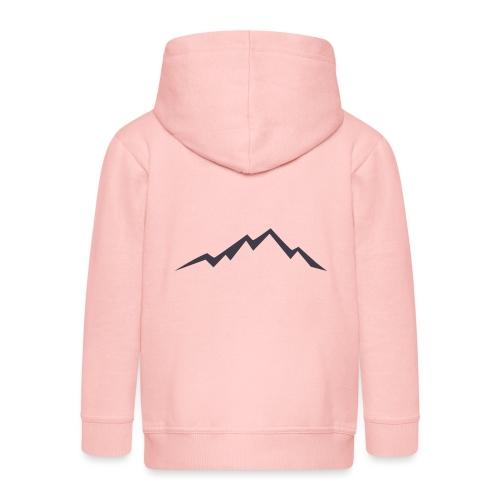 swiss alps clipart sihllouette ski mountains - Kinderen Premium jas met capuchon