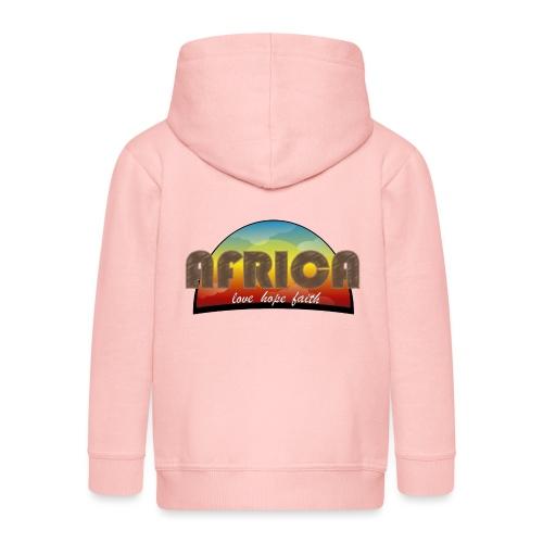 Africa_love_hope_and_faith - Felpa con zip Premium per bambini