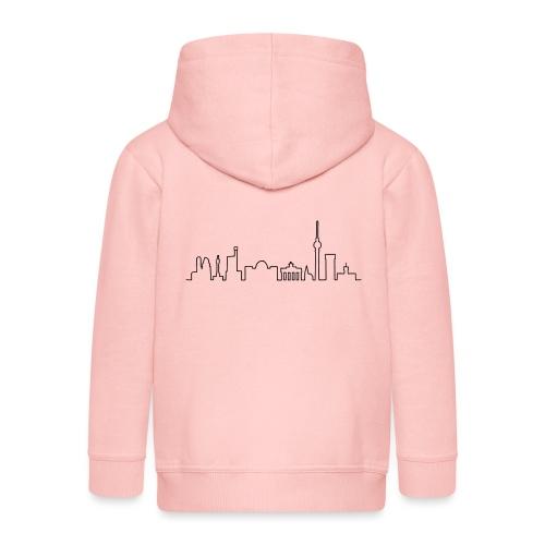 Skyline Berlin - Rozpinana bluza dziecięca z kapturem Premium