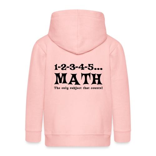 Black Math Counts - Kids' Premium Zip Hoodie