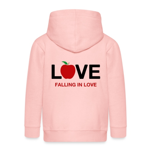 Falling in Love - Black - Kids' Premium Zip Hoodie