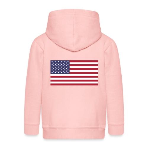 USA flagg - Premium Barne-hettejakke