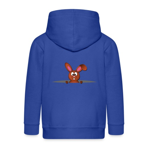 Cute bunny in the pocket - Felpa con zip Premium per bambini