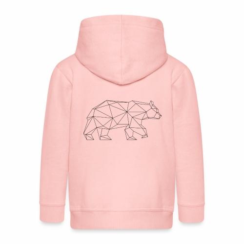 ours géométrique - Veste à capuche Premium Enfant
