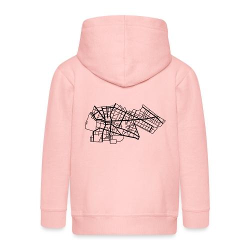 Berlín Kreuzberg - Rozpinana bluza dziecięca z kapturem Premium