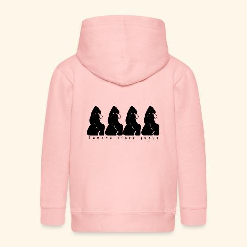 Gorille & file d'attente (version noire) - Veste à capuche Premium Enfant