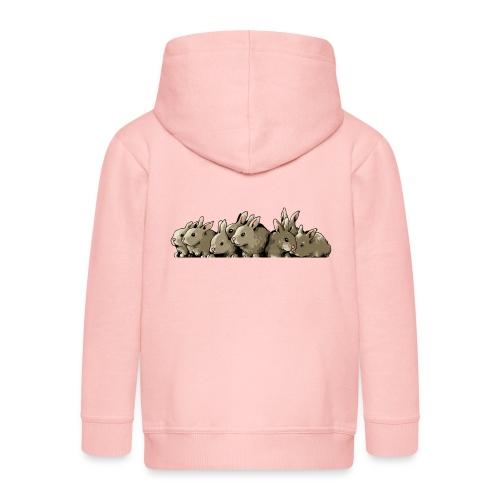 Lapins gris - Veste à capuche Premium Enfant