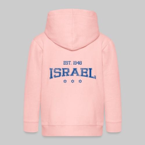 ISRAEL blue.png - Kids' Premium Zip Hoodie