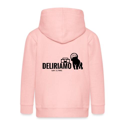DELIRIAMO CLOTHING (GdM01) - Felpa con zip Premium per bambini