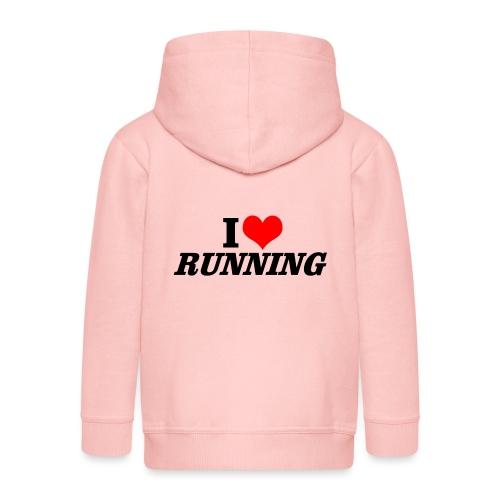 I love running - Kinder Premium Kapuzenjacke