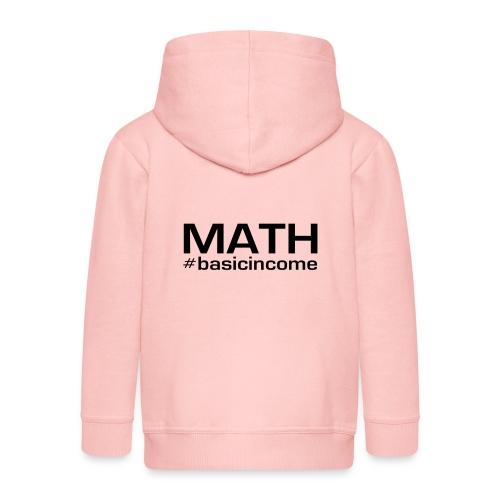 math-black - Kinderen Premium jas met capuchon