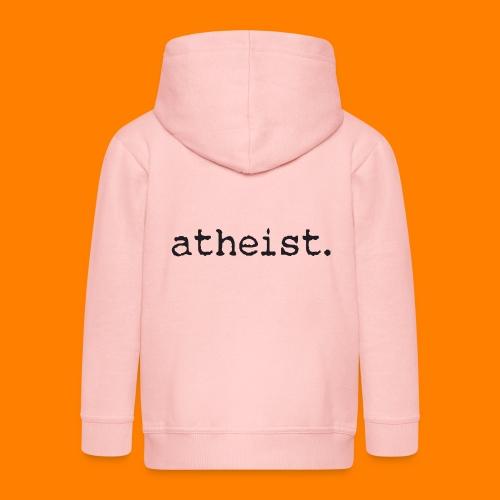 atheist BLACK - Kids' Premium Zip Hoodie