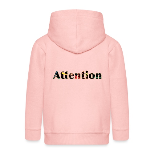 Attention - Kids' Premium Zip Hoodie