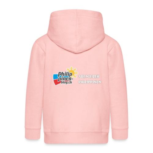 Philippinen-Blog Logo deutsch schwarz/weiss - Kinder Premium Kapuzenjacke