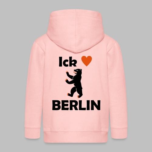 Ick liebe ❤ Berlin - Kinder Premium Kapuzenjacke